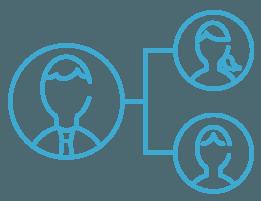 顧客担当連携機能のアイコン